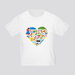 Colombia World Cup 2014 Heart Toddler T-Shirt